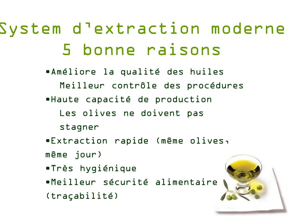 System d'extraction moderne