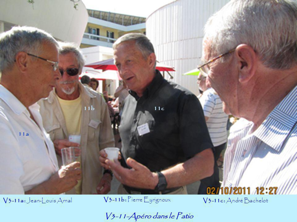 V3-11-Apéro dans le Patio 11b 11c 11a V3-11a : Jean-Louis Arnal