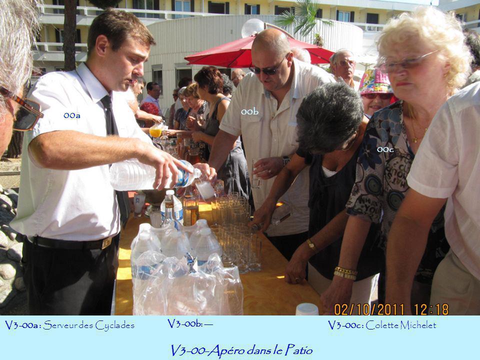 V3-00-Apéro dans le Patio 00b 00a 00c V3-00a : Serveur des Cyclades