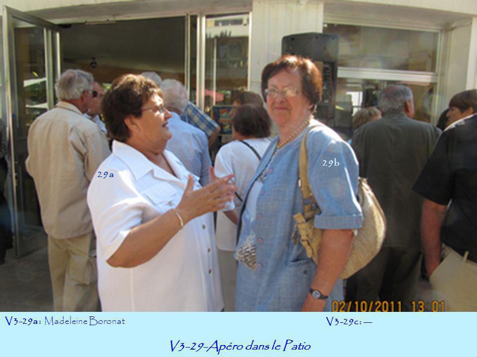 V3-29-Apéro dans le Patio 29b 29a V3-29a : Madeleine Boronat