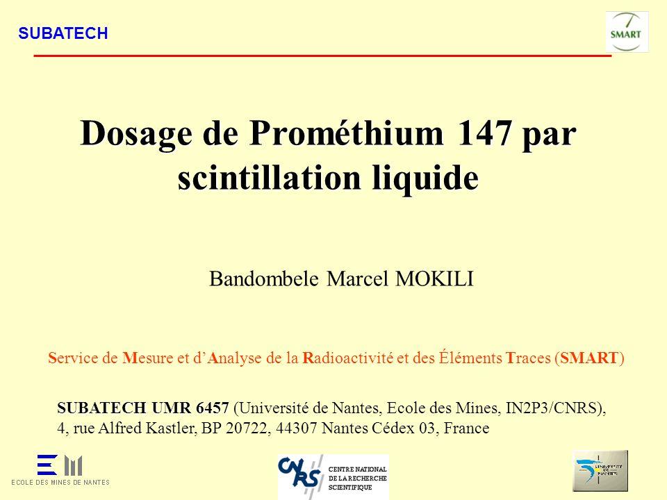Dosage de Prométhium 147 par scintillation liquide