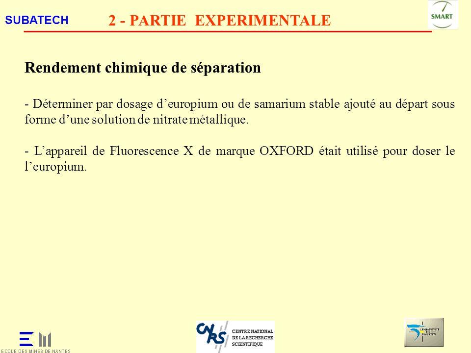 2 - PARTIE EXPERIMENTALE