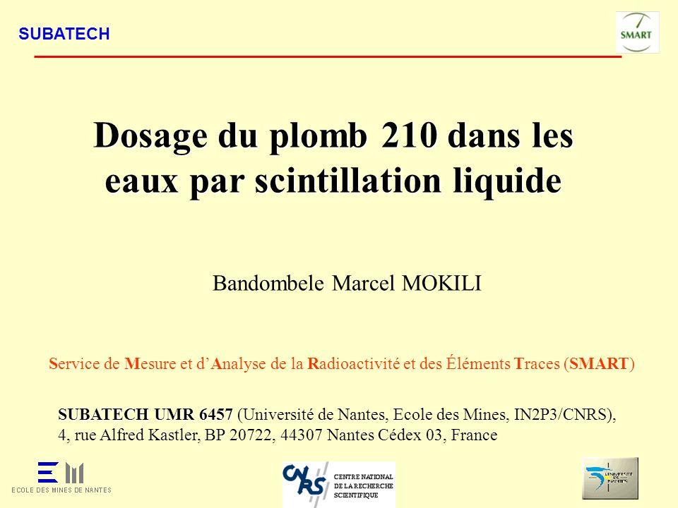 Dosage du plomb 210 dans les eaux par scintillation liquide