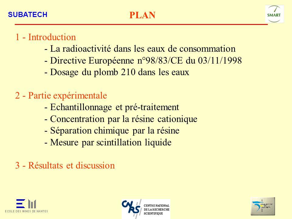 - La radioactivité dans les eaux de consommation