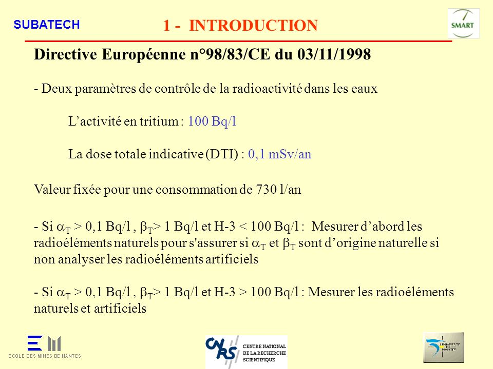 Directive Européenne n°98/83/CE du 03/11/1998