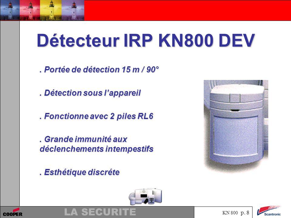 Détecteur IRP KN800 DEV . Portée de détection 15 m / 90°