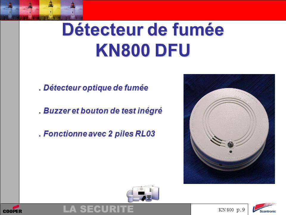 Détecteur de fumée KN800 DFU