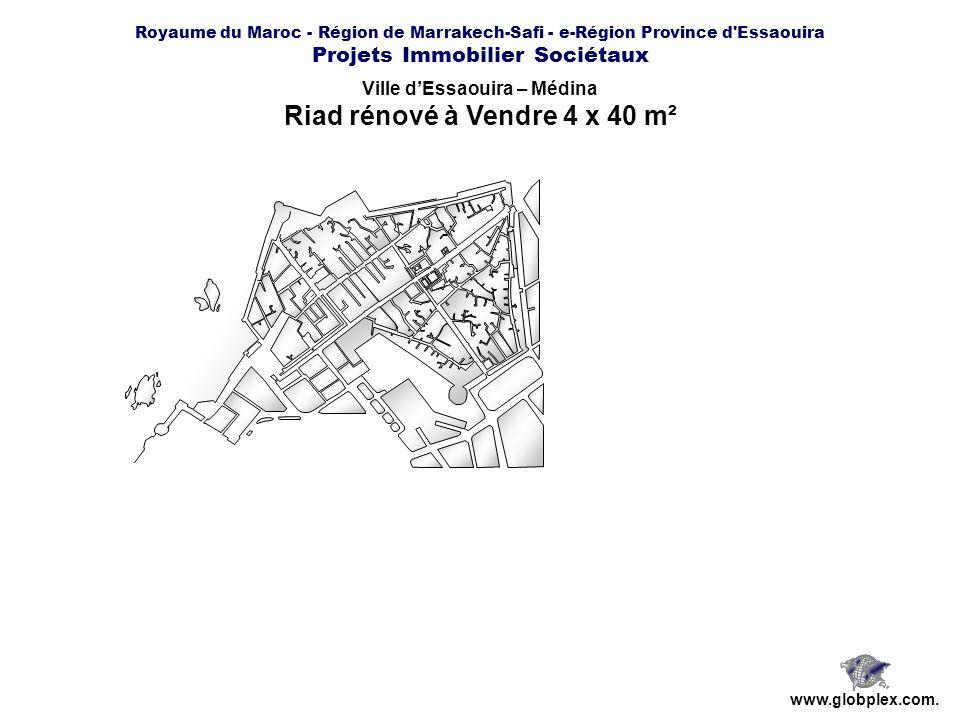 Ville d'Essaouira – Médina Riad rénové à Vendre 4 x 40 m²