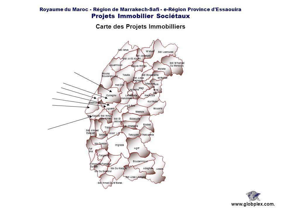 Carte des Projets Immobilliers
