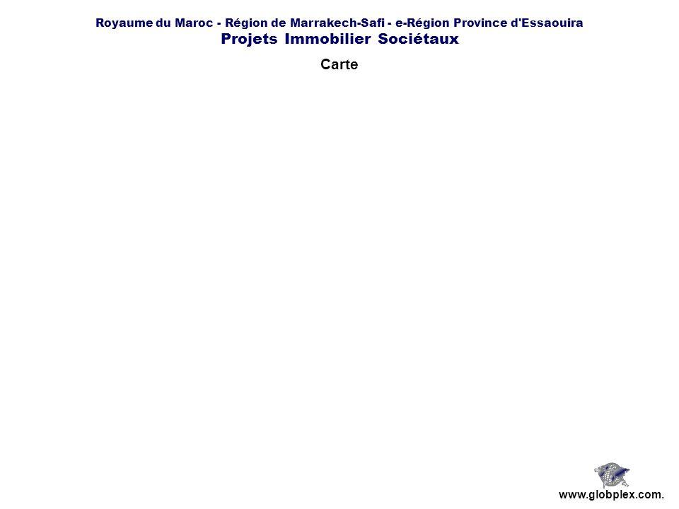 Royaume du Maroc - Région de Marrakech-Safi - e-Région Province d Essaouira Projets Immobilier Sociétaux