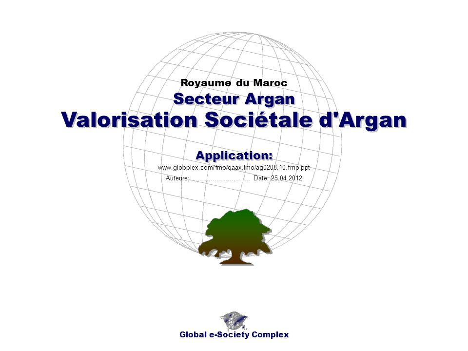 Valorisation Sociétale d Argan