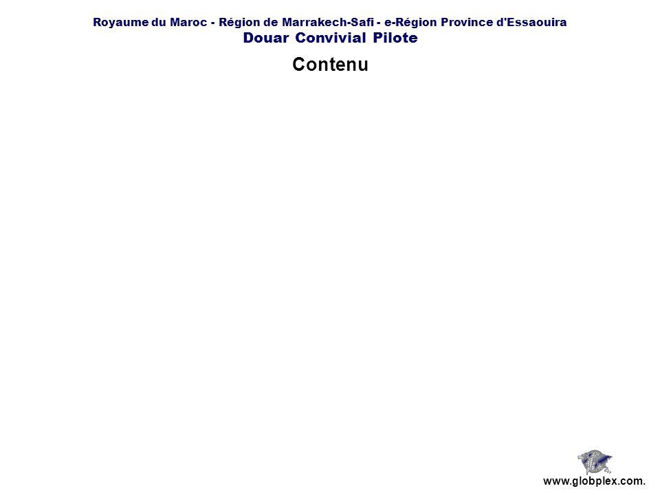Royaume du Maroc - Région de Marrakech-Safi - e-Région Province d Essaouira Douar Convivial Pilote