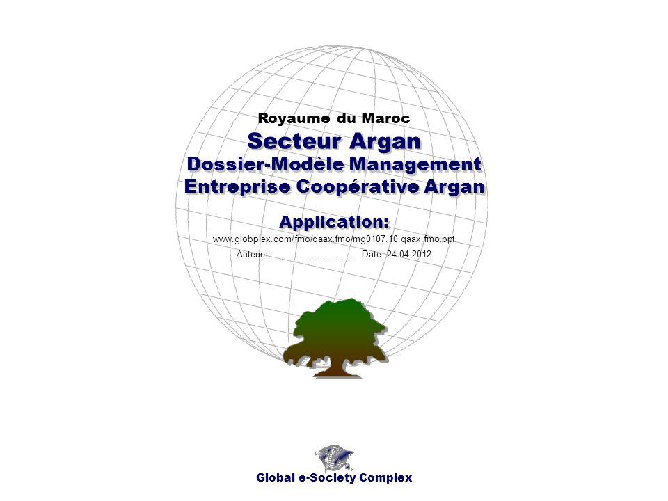Secteur Argan Dossier-Modèle Management Entreprise Coopérative Argan