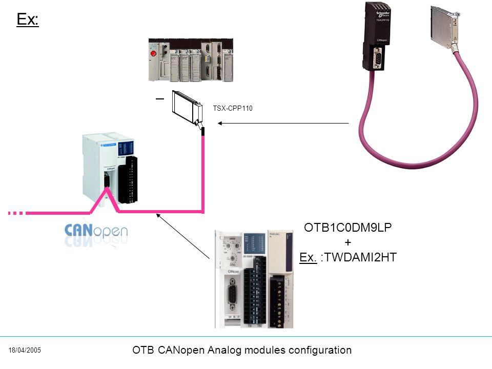 Ex: TSX-CPP110 OTB1C0DM9LP + Ex. :TWDAMI2HT