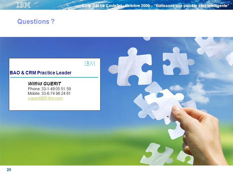 Questions IBM BAO & CRM Practice Leader
