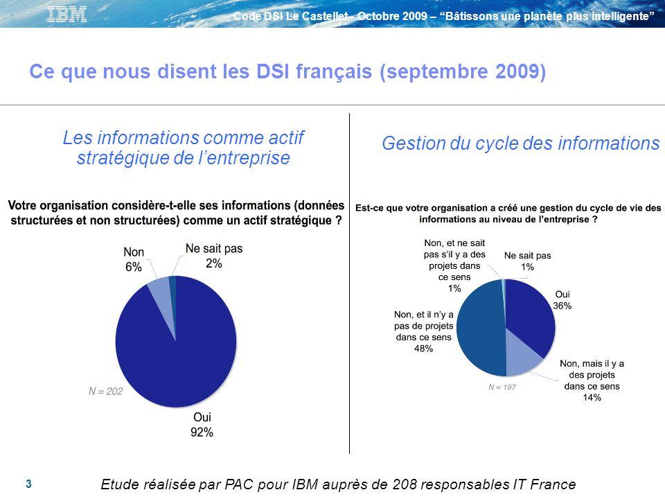 Ce que nous disent les DSI français (septembre 2009)