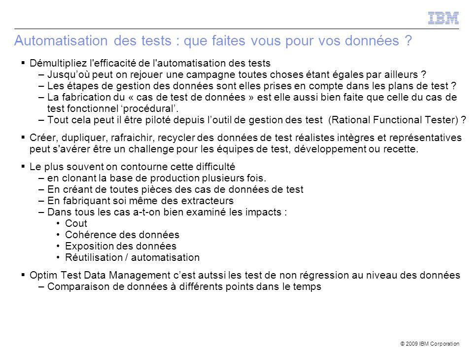 Automatisation des tests : que faites vous pour vos données