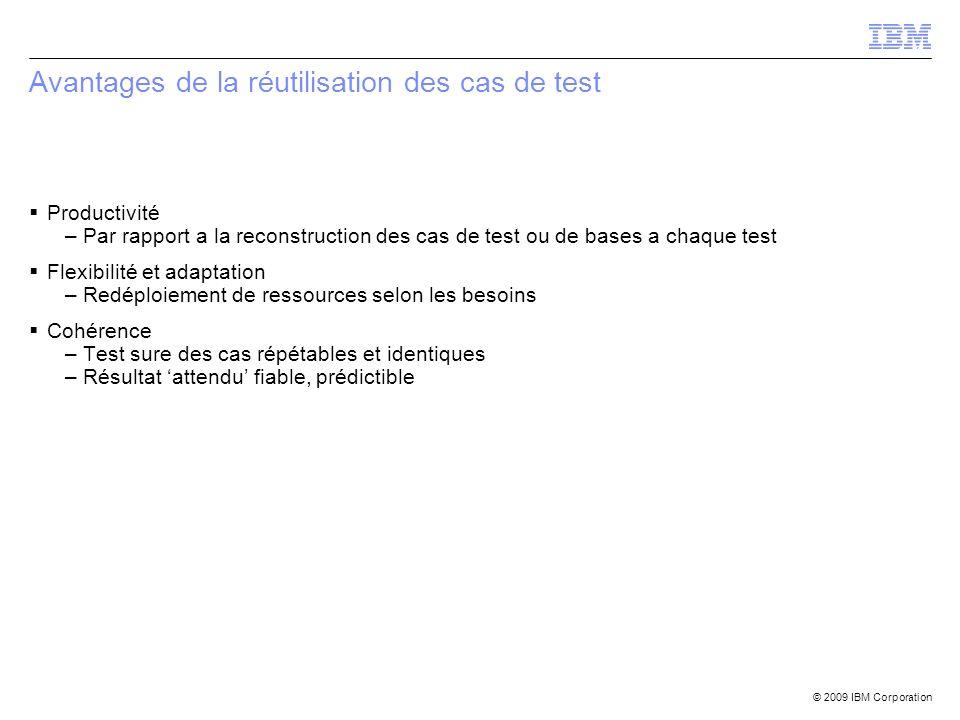 Avantages de la réutilisation des cas de test