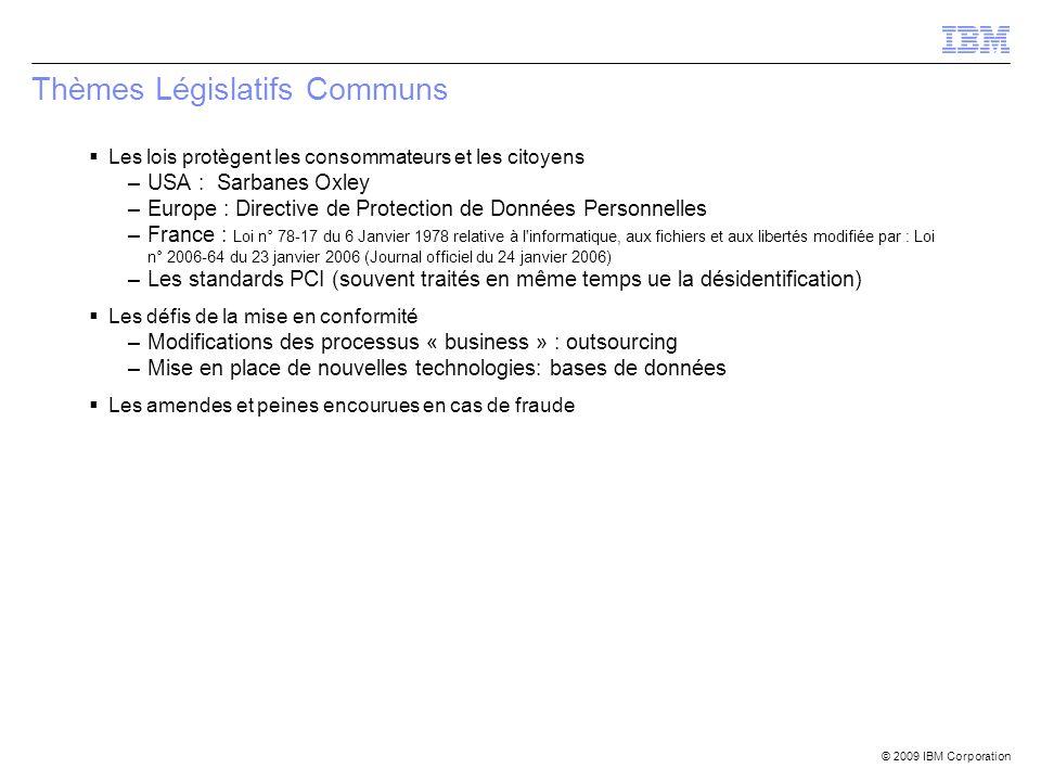 Thèmes Législatifs Communs