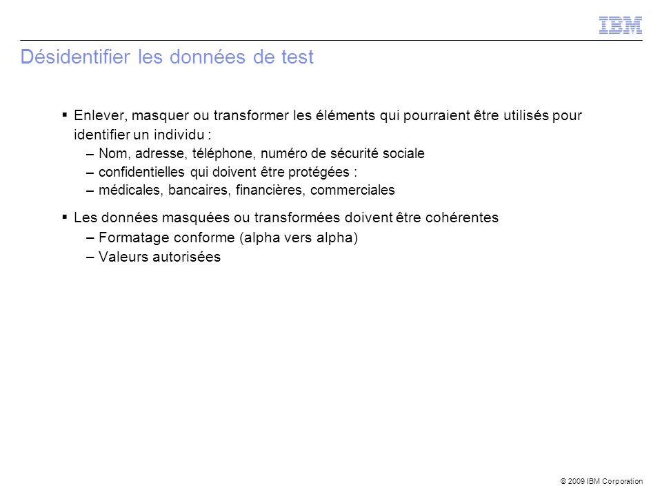 Désidentifier les données de test
