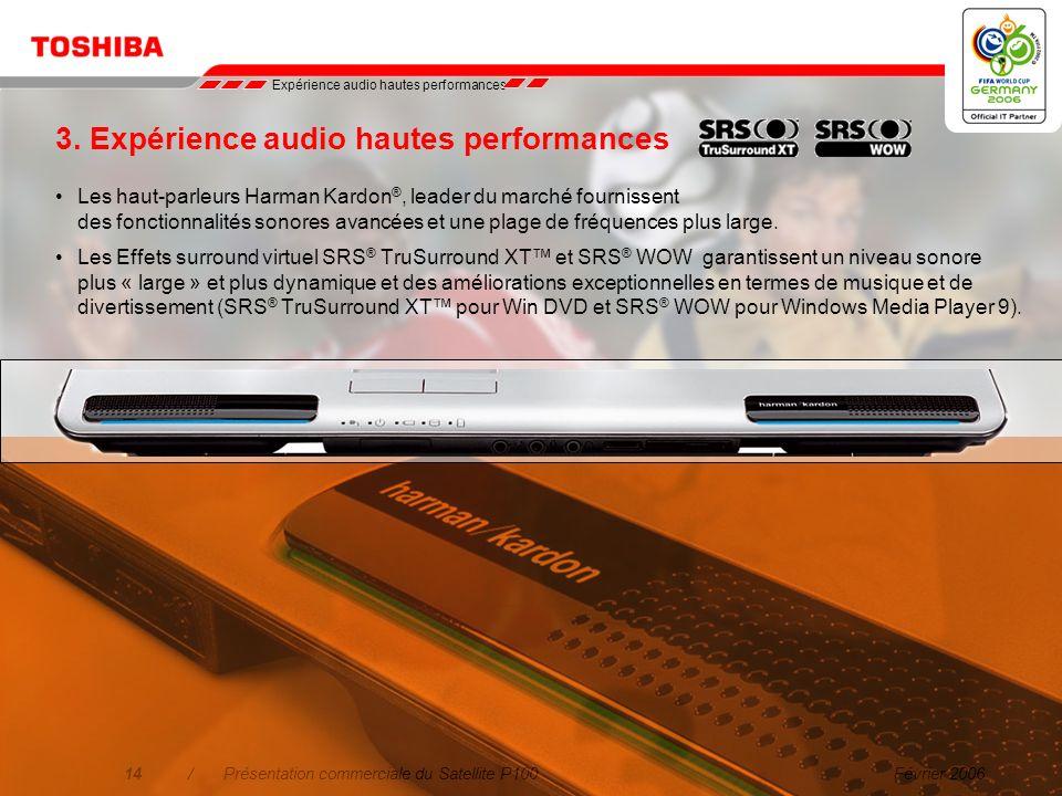 3. Expérience audio hautes performances