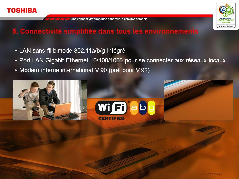 5. Connectivité simplifiée dans tous les environnements
