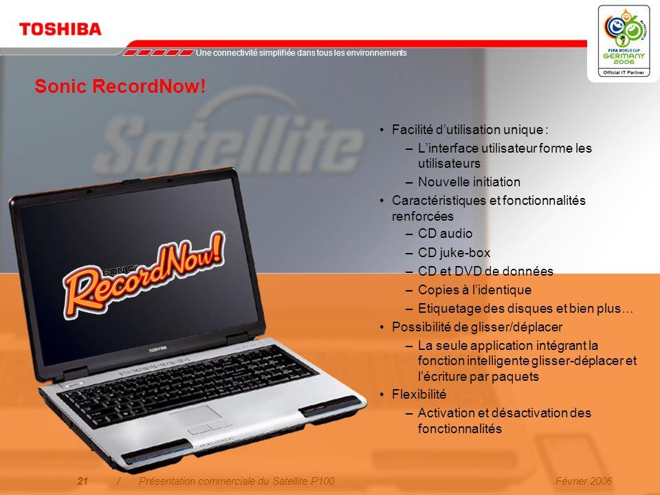 Sonic RecordNow! Facilité d'utilisation unique :
