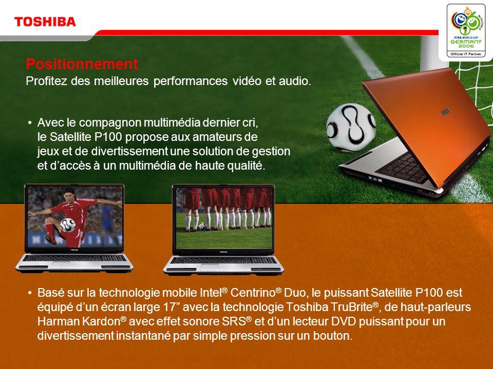 Positionnement Profitez des meilleures performances vidéo et audio.