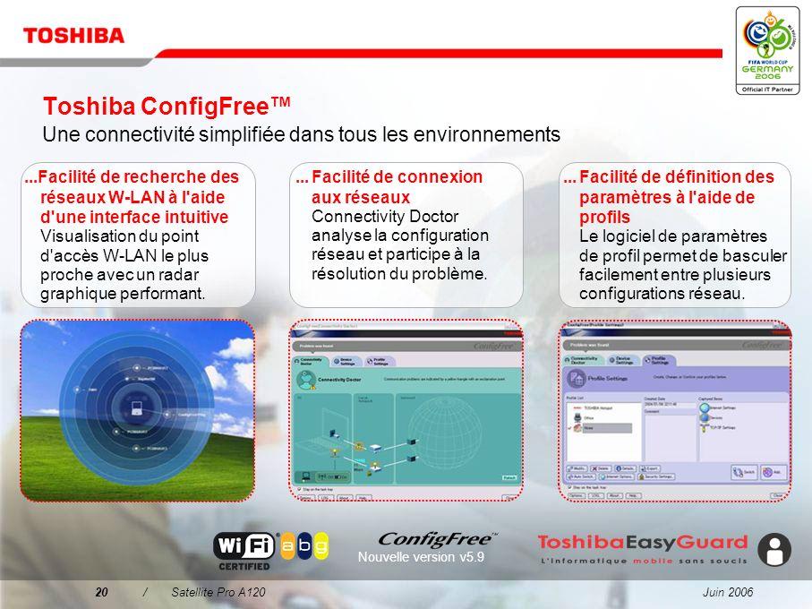 Toshiba ConfigFree™ Une connectivité simplifiée dans tous les environnements