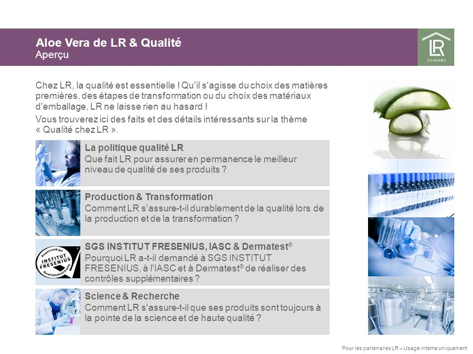 Aloe Vera de LR & Qualité