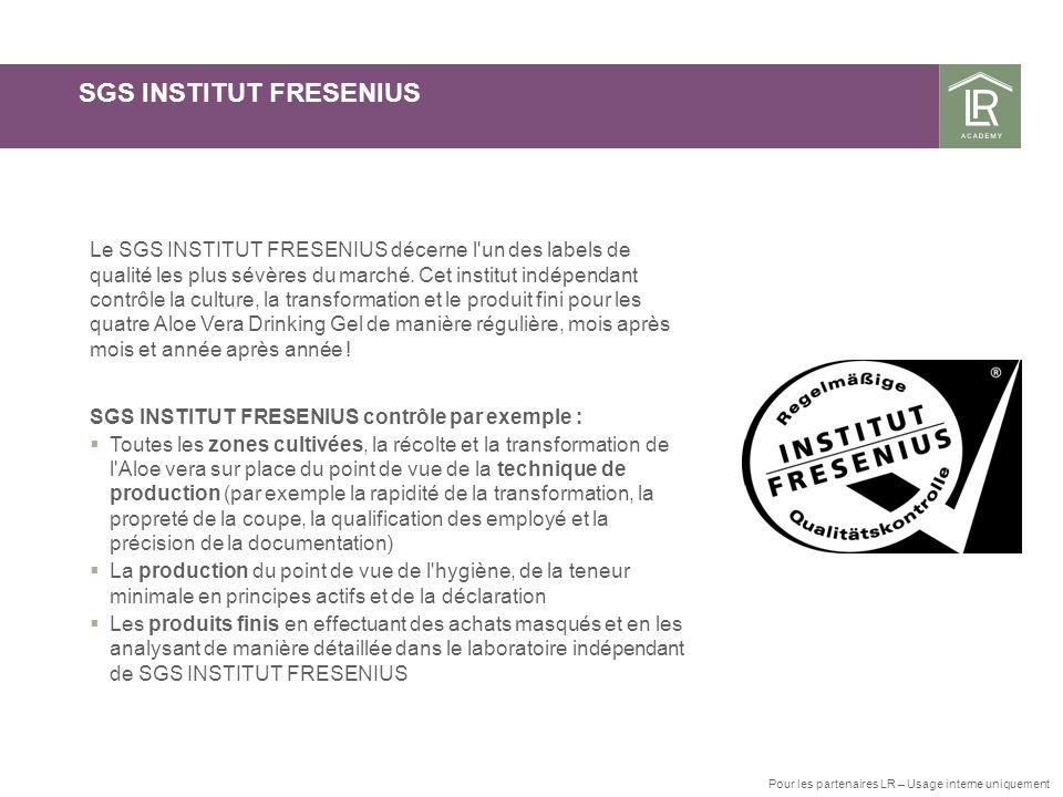 SGS INSTITUT FRESENIUS