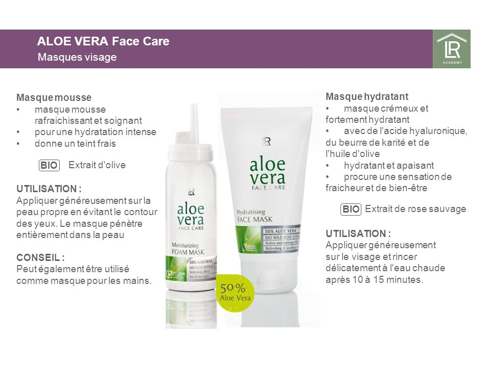 ALOE VERA Face Care Masques visage Masque mousse Masque hydratant