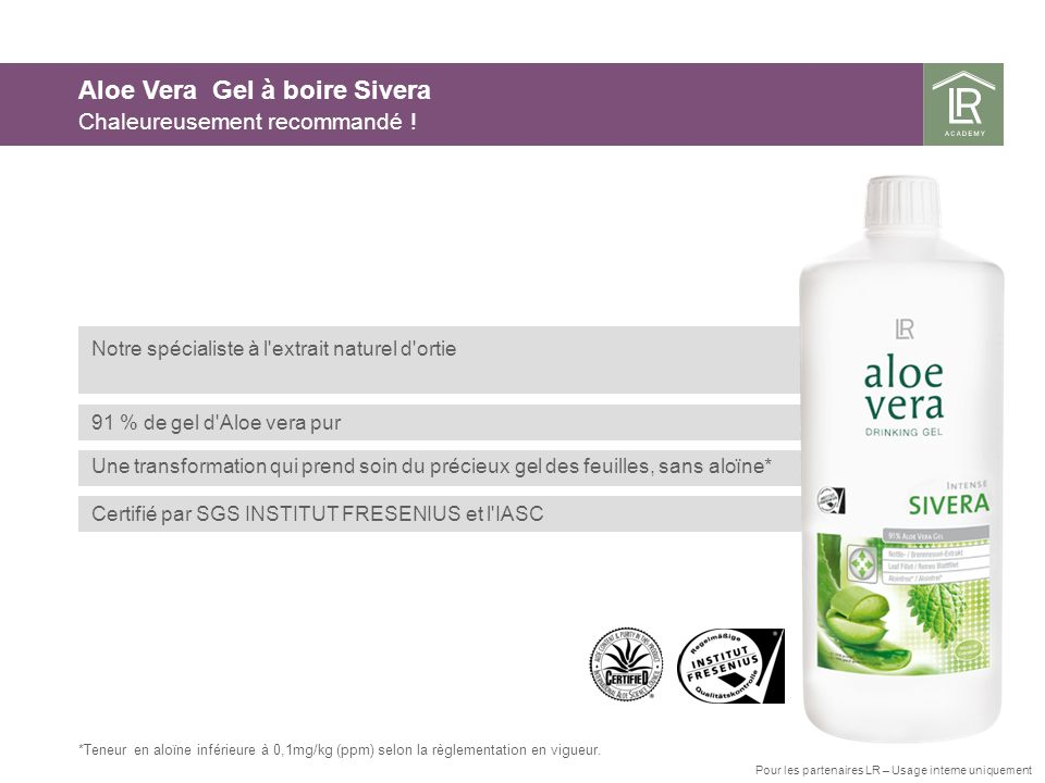 Aloe Vera Gel à boire Sivera