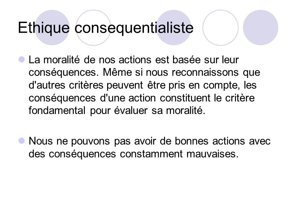 Ethique consequentialiste