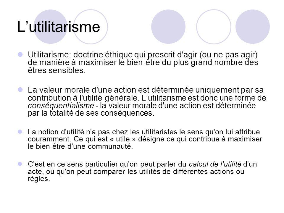 L'utilitarisme