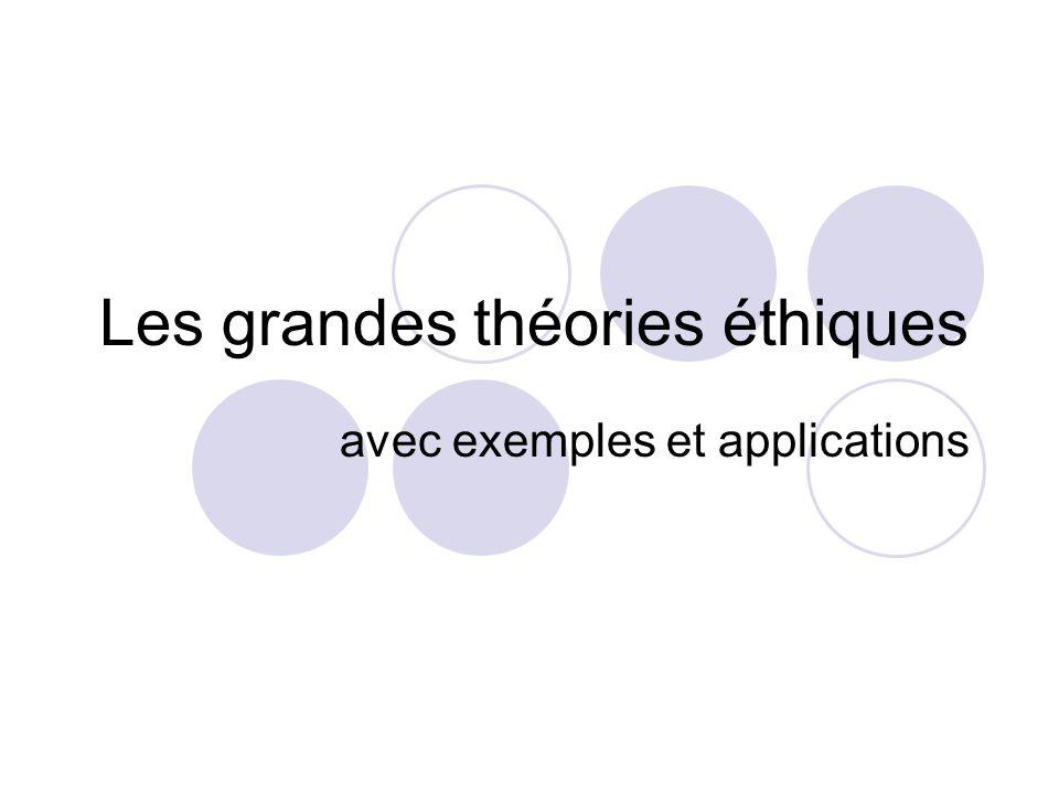 Les grandes théories éthiques