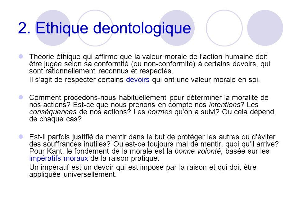 2. Ethique deontologique