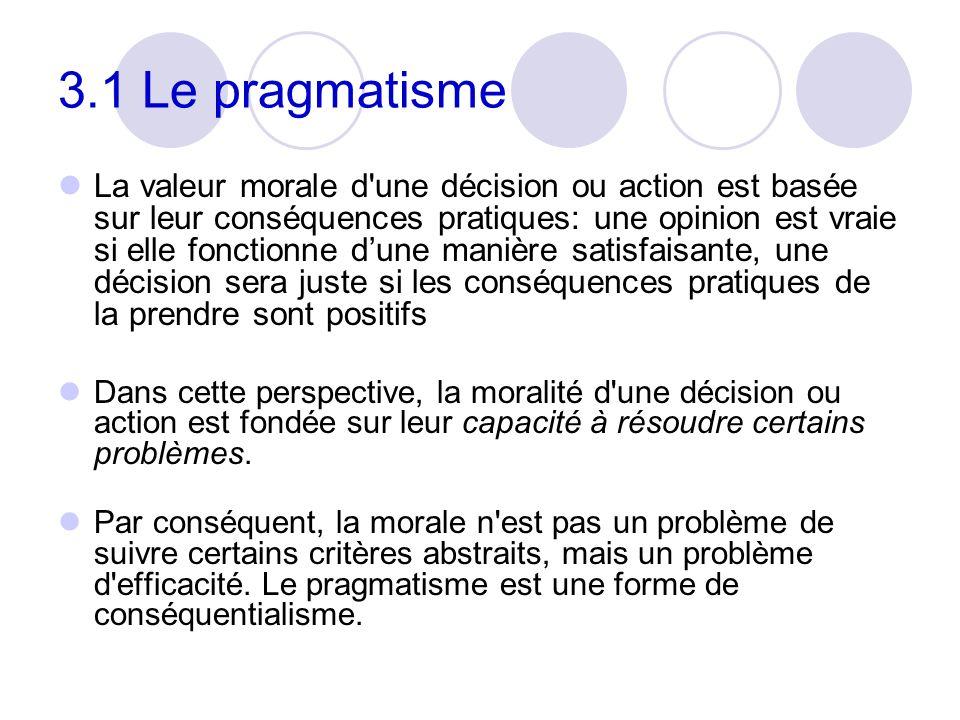 3.1 Le pragmatisme