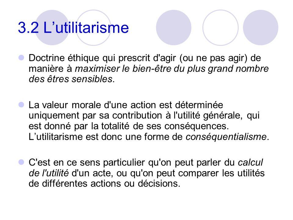 3.2 L'utilitarisme