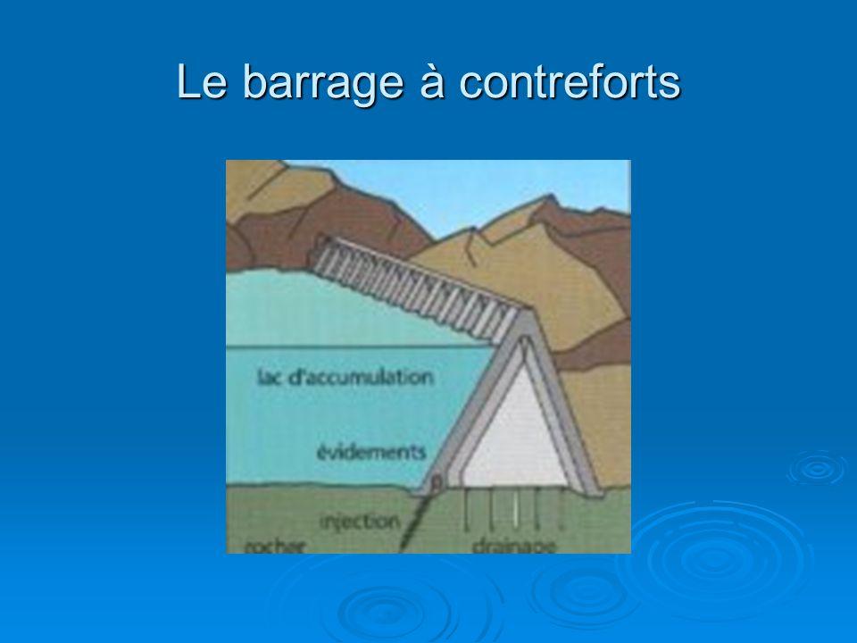 Le barrage à contreforts