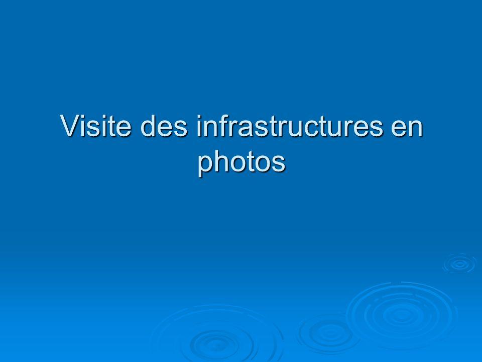 Visite des infrastructures en photos