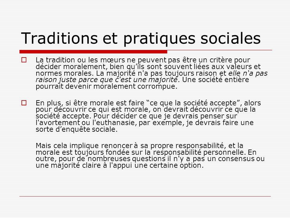 Traditions et pratiques sociales