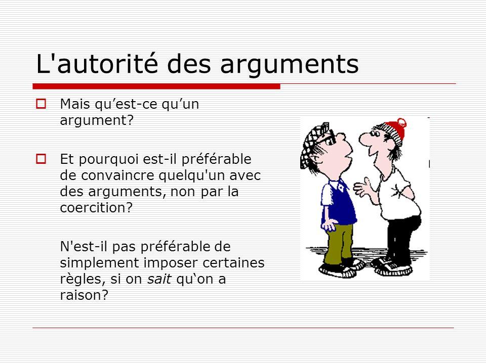 L autorité des arguments
