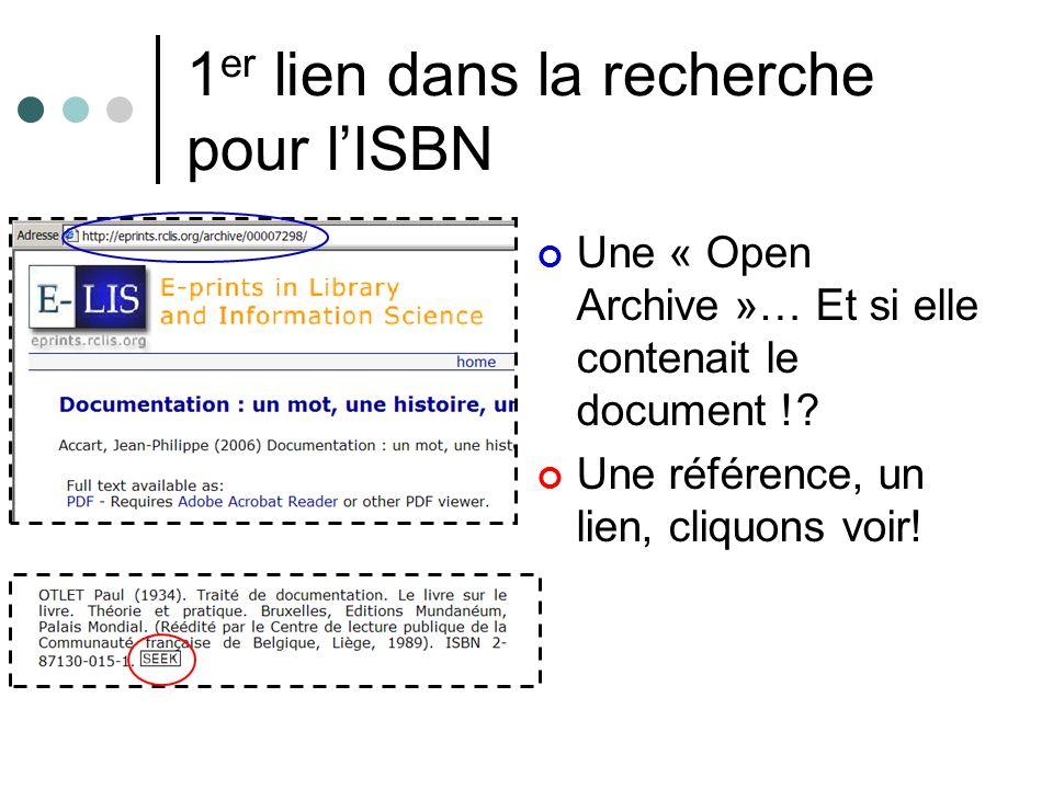 1er lien dans la recherche pour l'ISBN