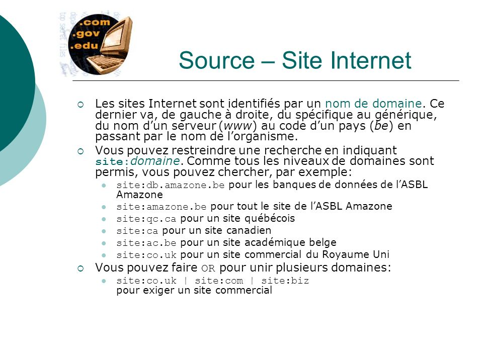 Source – Site Internet