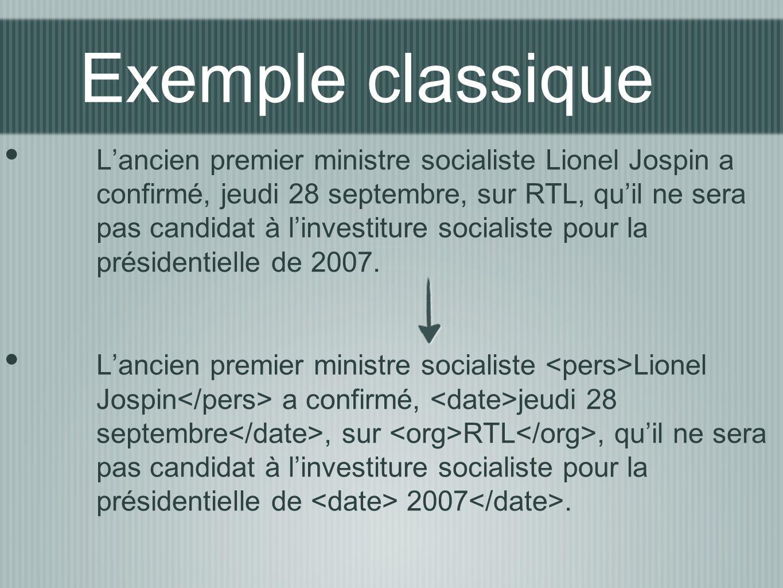 Exemple classique