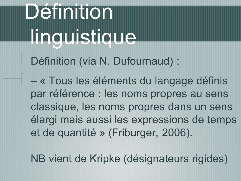 Définition linguistique