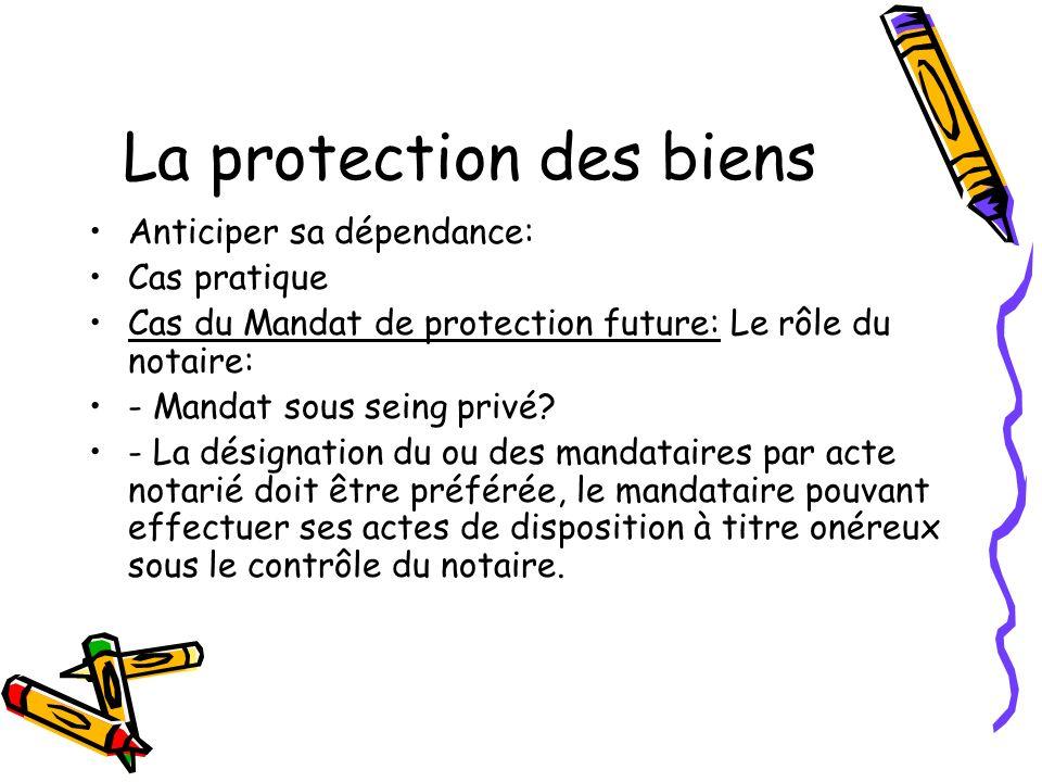 La protection des biens