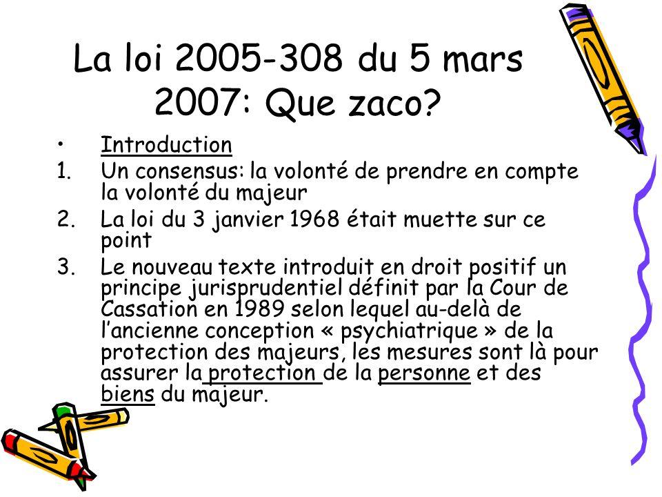 La loi 2005-308 du 5 mars 2007: Que zaco