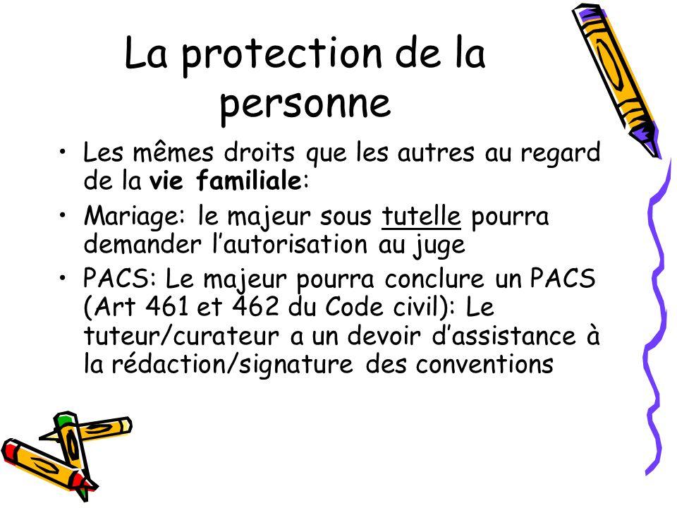 La protection de la personne